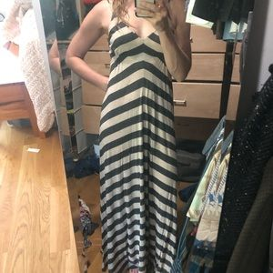 Chevron stripe maxi dress by Eight Sixty, size S